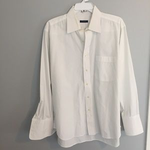 Burberry White Button Down Dress Shirt 16/33